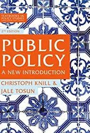 Public Policy – A new Introduction. Book by Christoph Knill & Jale Tosun